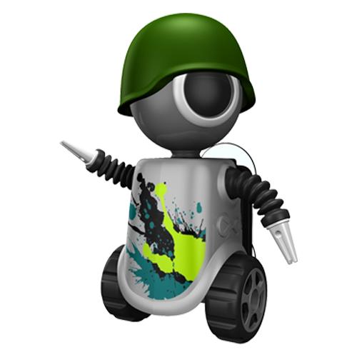 Flipper Robot antibakteriální kryt na zubní kartáček šedý, 1 ks