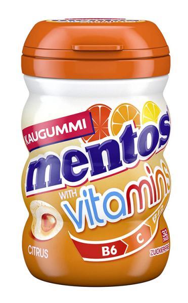 Mentos žvýkačky s citrusovou příchutí bez cukru 64 g, 32 ks