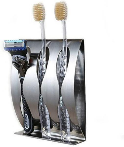 Držák na zubní kartáčky z nerezu